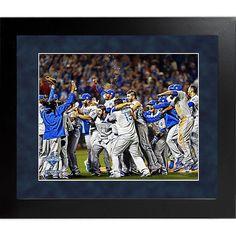 "Steiner Sports Memorabilia Steiner Sports MLB Kansas City Royals 2015 World Series Champions Framed Team Celebration Photo - 16"" x 20"""