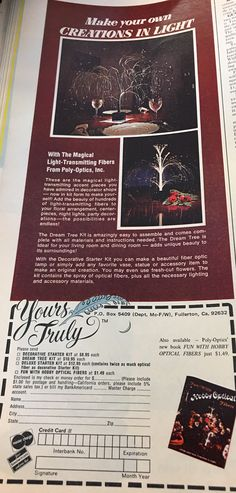 Make Your Own, How To Make, Magazine Ads, Accent Pieces, Night Light, Floral Arrangements, Centerpieces, Lights, Decor