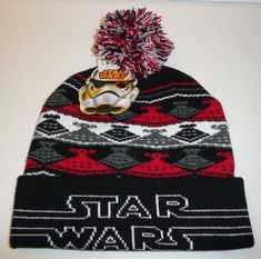 c5457cfc217 Star Wars Winter Beanie Hat Cap Star Destroyer Ship Design Ugly Sweater  Style  StarWars