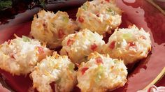 Celebrate festival with tropical flavor! Enjoy coconut cookies topped with cherries – a yummy dessert.