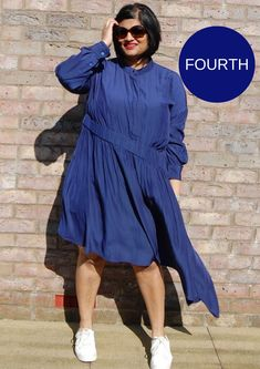 4th Place - Manju's entry - #tessuticolourinthirds V Neck Blouse, V Neck Dress, Dress Up, Shirt Dress, Plaits, Kimono Fashion, Two Pieces, Wide Leg Pants, Competition