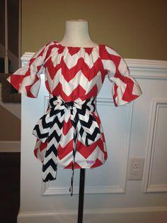 Christmas dress? FALL 2012.. Red Chevron Tunic Dress with Black Sash.. Sz. 6m-6y... PERFECT for Fall... baby girl toddler. $32.00, via Etsy.