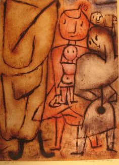 Paul Klee  'Petit groupe se detachant de la foule' (Small group standing out from the crowd  [my own translation  g.s.])  1939
