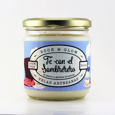 Candle soy tea with the Mad Hatter for lovers of books