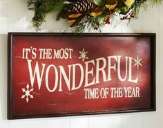 Pottery Barn Knock off Christmas Sign - Live Creatively Inspired