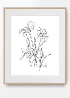 Set of 3 Prints Botanical Art Print Set 3 Flower Prints Flower Artwork, Flower Prints, Ribba Frame, Botanical Wall Art, Mid Century Art, White Art, Printable Art, How To Draw Hands, Original Art