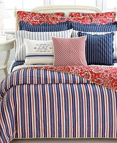 patriotic. Lauren  Ralph Lauren Bedding, Villa Martine Collection  Web ID: 619365 at Macy's