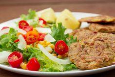 Tunfiskbiter med salat