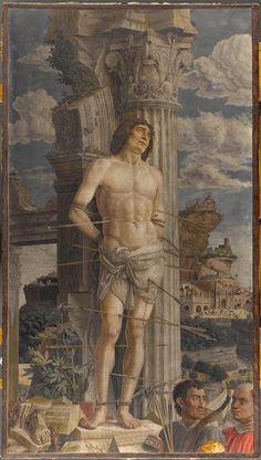 Saint Sébastien, Andrea Mantegna, vers 1480, huile sur toile, 2,55 x 1,40 m - Musée du Louvre