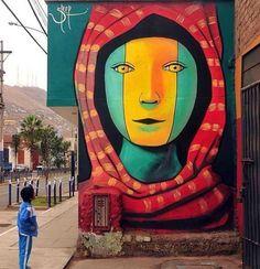 Lima Peru. Street art