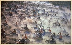 Motorcycles Racing in the Mint 400 ... the race that was in Fear and Loathing Las Vegas.