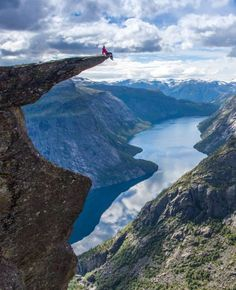 I can tell you firsthand that the feeling of looking over the ledge in real life isn't much different. The trip up was nothing like what I expected either, so I thought I'd bring you along, and show you what it's like to hike up and stand on the edge of Trolltunga, also known as the Troll's Tongue. Welcome to Norway!