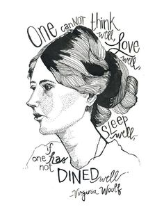 This favorite print hangs in my kitchen - Virginia Wolf by Ann Shen