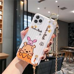 Let's Scream For This Winnie The Pooh Style Hand Strap Shockproof Protective Designer iPhone Case For iPhone 11 Pro Max X XS Max XR 7 8 Plus Case! Casememe's Winnie The Pooh Style Hand Strap Shockproof Protective Designer iPhone Case For iPhone .