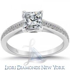 1.51 Carat D-VS1 Certified Princess Cut Diamond Engagement Ring 18k White Gold - Liori Exclusive Engagement Rings - Engagement - Lioridiamonds.com
