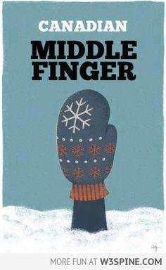 Canadian Middle Finger
