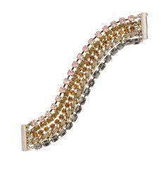 Pink Stone Multi Chain Bracelet