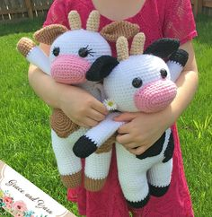 Amigurumi Cow - A Free Crochet Pattern | Grace and Yarn