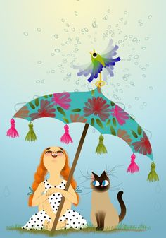 Marie-Rose Boisson - Illustration - cat art