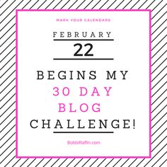 The 30 Day Blog Writing Challenge for Me and YOU! Starts Today – Start Now – Whenever That Is! Do Blogs Even Exists Anymore? If they do exist WHO really reads them? Seriously! Who? I began my journey back in...