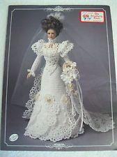 Crochet Bridal gown pattern  for 11 1/2 inch fashion doll
