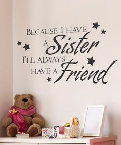 Black 'Sister Friend' Wall Quote