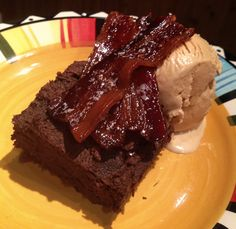 Bacon Date Brownies from Fitness Kelly