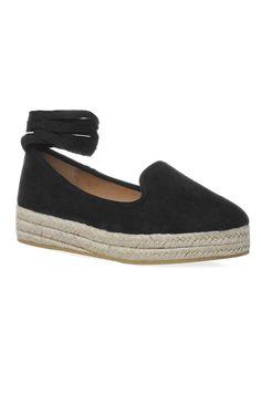 Primark - Alpercatas com tiras tornozelos preto