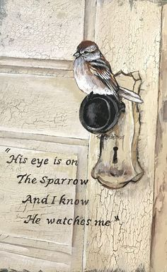 His Eye is on the Sparrow Bible Verse Art, Bible Verses Quotes, Bible Scriptures, Bibel Journal, Jesus Christ Quotes, And So It Begins, Jesus Pictures, Favorite Bible Verses, His Eyes
