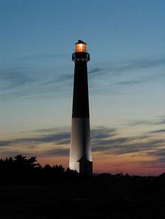 Barnegat Lighthouse, a classic coastal lighthouse built by George Meade on Long Beach Island, New Jersey