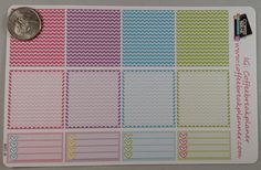 Chevron Box and To Do List Stickers for Planners  Made to fit Erin Condren Planners (horizontal). Each sticker sheet is approximately 7x5 in