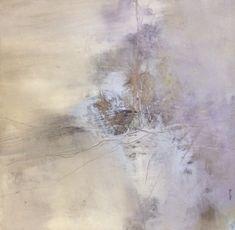 ' Landscape greyness,' by Tonie Rigby, acrylic on board,52 cm sq.