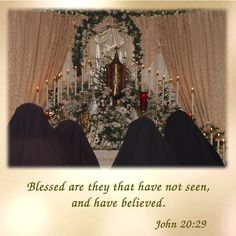 Blessed are they that have not seen, and have believed.  #daughtersofmarypress #daughtersofmary #easter