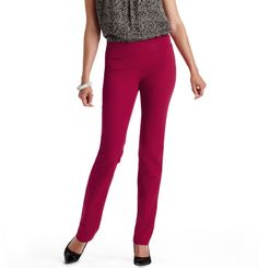 Zoe Straight Leg Pants in Bi-Stretch. These pants are really flattering on... Love wearing with flats!