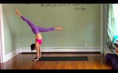 60 Minute Vinyasa Yoga Class with Handstand Play - Level 2/3 - Intermedi...