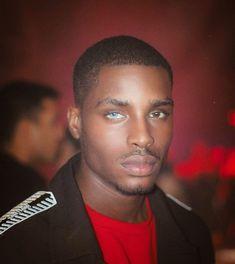 "Black Guys on Instagram: ""Blessed, two different color eyes 😍"" Black Man, Handsome Black Men, Black Boys, Beautiful Blue Eyes, Gorgeous Men, Beautiful People, Dark Skin Boys, Dark Men, Black Male Models"