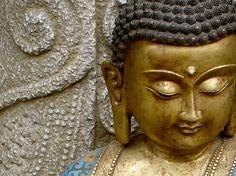 Little Golden Buddha - #buddha statue. #Buddhist #Art