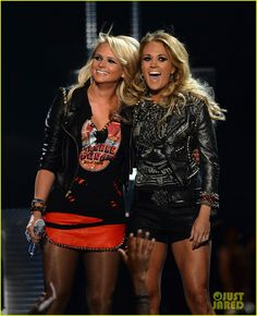 Carrie Underwood and Miranda Lambert hit the stage together for a performance at the 2014 Billboard Music Awards held at the MGM Grand Garden Arena on Sunday (May…