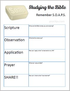 Practips: New #Printable : #Bible Study SOAPS Very useful tool when studying the Bible. Enjoy!