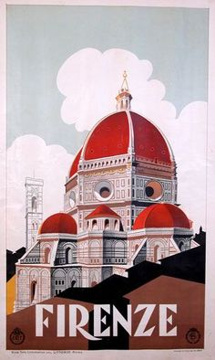 Firenze / Vintage Travel Poster for Florencia http://www.posterclassics.com/vintage-italian-travel-posters5.html