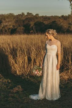 """Jacquie looked amazing in her Bertossi Brides gown created just for her in delicate Italian lace and pure silk. A perfect example of the elegant, timeless designs that Anne Bertossi is so well known for.  """"Less is always more"""" xx Stunning photography by Cloud Catcher Studio"""