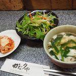 かなりや - 郵便局前/韓国料理 [食べログ] Seaweed Salad, Spinach, Restaurants, Vegetables, Ethnic Recipes, Food, Veggies, Veggie Food, Meals