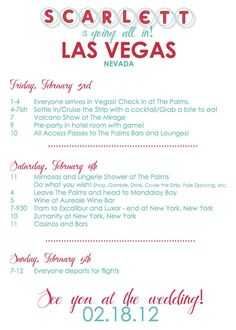 Itinerary Template Google Search Im A Girl I Have To - Party invitation template: bachelorette party itinerary template