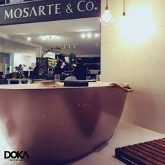 Banheira Victoria+Albert Terrassa na cor Rose Gold da linha Doka Cores 2017.