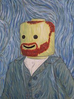 LeGogh Lego Van Gogh- art humor with Legos! Lego Disney, Lego Van, Haha Funny, Funny Memes, Funny Art, Funny Stuff, Funny Drunk, Hilarious Jokes, Hilarious Animals