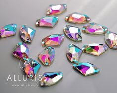 16 AB Crystal GALAXY 12mm x 19mm sew on crystal stone by ALLURISS, $11.90