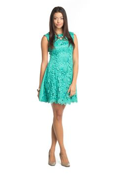 minty lace dress