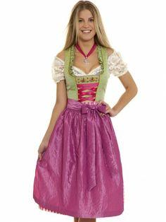 Dirndl Burgsee Frühlingszauber (hellgrün, fuchsia, pink) - Hammerschmid