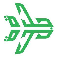 "Lance Wyman / Jeddah international airport logo, 1977 - pinned ""just because I like it."""