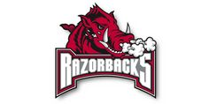 The Arkansas Razorbacks x Rug features logo printed in vivid color. This tufted Rug is a perfect accent rug, utility mat, or wall hanging. University Of Arkansas, Arkansas Razorbacks, Southern Hospitality, Old Glory, Ferrari Logo, Acrylic Material, Accent Rugs, Sport, Vivid Colors
